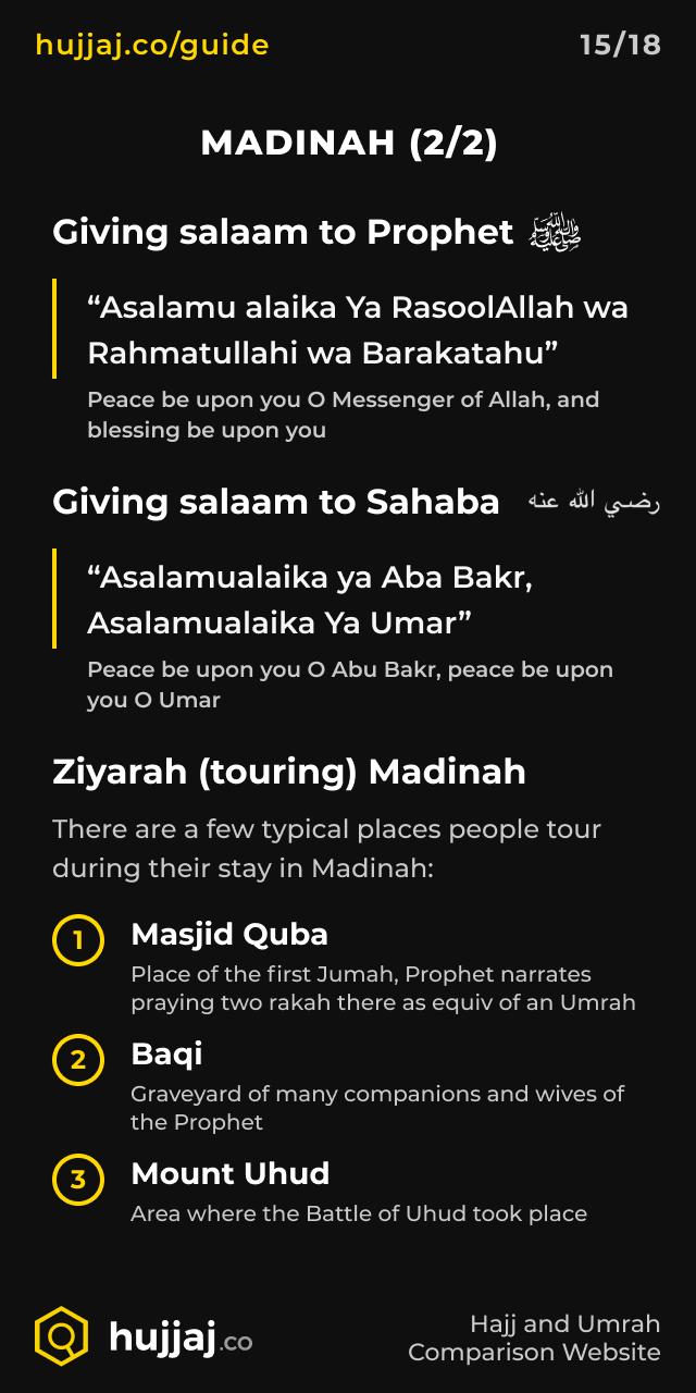 Hujjaj.co - Hajj and Umrah Cheatsheets - [15/18] Madinah (2/2)
