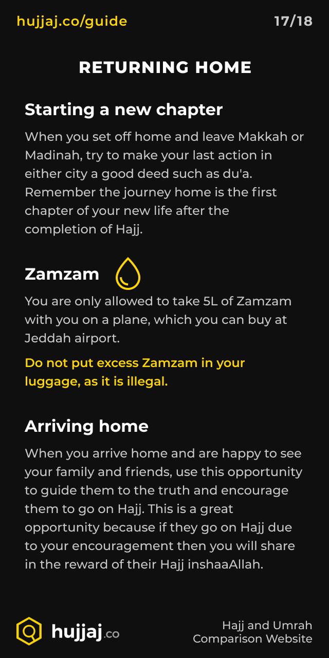 Hujjaj.co - Hajj and Umrah Cheatsheets - [17/18] Returning Home